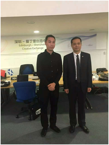 ChinaDivision CEO Ethan Chang (left) with Mayor of Bao'ao District -2